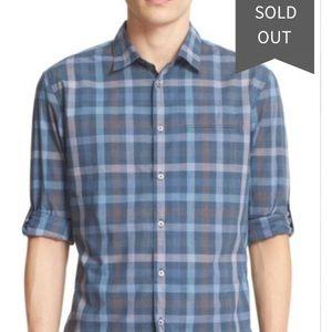 John Varvatos collection slim fit plaid shirt